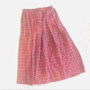 Balfores Vintage Red Geometric Silk Skirt - 6